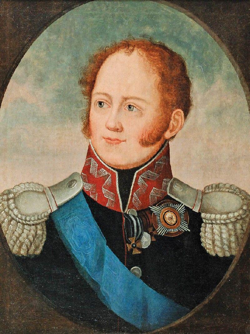 Portret Wielkiego Księcia Konstantego malarz nieokreślony XIX w